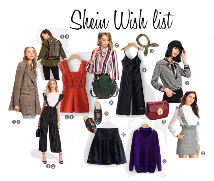 SHEIN WISH LIST – Wishlist de la tienda de moda Shein – Está lista de deseos ayuda a evitar la disonancia cognitiva.