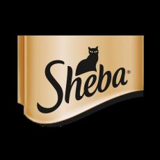 Logo de Sheba marca de alimentación para gatos.